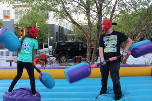 Inflatable jousting with Jared Kleinert